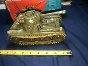 40s-50s Gama Tank Giant 6035 - Tin Toy Tank Boxed West Germany 🇩🇪 🙂👍
