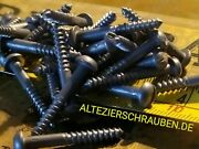 6 X 1 Old Wood Screws Slotted Round Head Classic Cars Restoration Work
