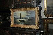 Powerful Antique Seascape By Listed Artist W. Eckhardt 1936