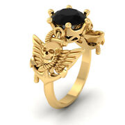 Archangel Wings Skull Wedding Ring Nautical Anchor Wings Gothic Engagement Ring