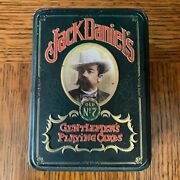 Jack Daniels Gentlemens Playing Cards In Tin Box 2 Full Decks One Sealed England