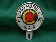 A.a.a. Chicago Motor Club - License Plate Topper - New In Box - Reflexite - O.g.