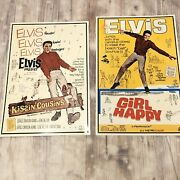Lot Kissin Cousins Girl Happy Movie Metal Tin Signs Posters Elvis Presley Set