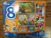 Disney 8 Puzzle Pack 150 300 500 Pieces Cinderella Aladdin Cars Toy Story More