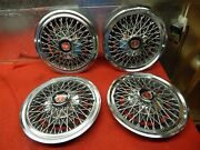 4 Used 74 75 Ford Gran Torino Elite 14 Wire Wheelcovers D4oz-1130-f