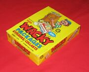 Vintage Wacky Packages 1985 Opee Chee Yellow Box 48 Unopened Packs @@rare@@
