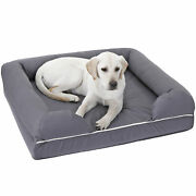 Dog Bed Memory Foam Waterproof Liner Breathable Skin Contact Safe Sleep Well