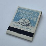 Vintage Plymouth Rock History Matchbook Cover Unstruck