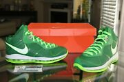 Deadstock Nike Lebron 8 V2 Viii Victory Green Sample Pe Player Exclusive Sz 11.5