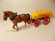 Jle 3002 Shell Oil Horse And Tanker Wagon Bank 4 In Series Nos Free Shipping