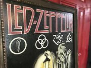 Frame Painting Led Zeppelin Stairway To Heaven Song Lyrics Rare Vintage
