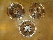 1965 Ford Mustang 13 Inch Wheel Covers Hubcaps Set Of Three Used