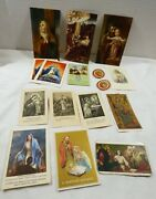 Lot Of 16 Antique Vintage Catholic Holy Prayer Easter Small Cards