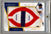 2017 Immaculate Collection Kirby Puckett Game Used Jersey Logo Patch 1/1 Amazing