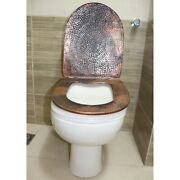 Hand Hammered Pure Natural Copper Standard Size Toilet Seat Cover