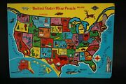 Vintage Built Rite United States Map Puzzle 50329 As Is