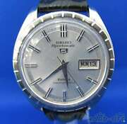 Seiko Sportmatic 5 7619-9020 Stainless Steel Automatic Mens Watch Auth Works