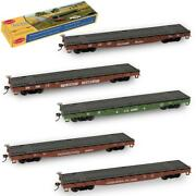 3pcs Ho Scale 187 52ft Flat Car Flatbed Transporter 52and039 Container Carriage