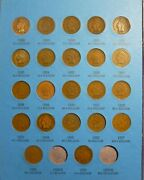 1859-1909 Indian Head Penny 22 Coin Collection Page 3 Whitman No Folder