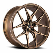 21 Savini Sv-f5 Bronze 21x9 21x9 Forged Concave Wheels Rims Fits Tesla Model S