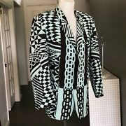 Gianni Versace Optical 3 Button Menand039s Blazer Size It 50 From Ss 1992 Blue