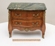 Late 19th C. Louis Xv Style Child's Miniature Kingwood Bombay Commode Chest Doll