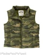 Nwt Gymboree Baby Toddler Boy Sand039more Style Camo Puffer Vest 12-24