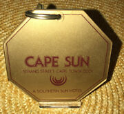 Vintage Collectable Cape Sun Hotel Room Key And Fob Cape Town South Africa Rm1204