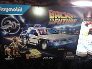 Playmobil 70317 Back To The Future Delorean Time Machine 64 Pc Set In Hand 📷👀