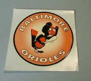 1960's Baltimore Orioles Angry Bird With Bat Unused Baseball Decal Sports Mascot