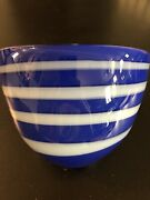 And Co. Jamie Harris For Blue Swirl Bowl-excellent Condition