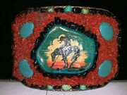 Vintage End Of The Trail Championship Buckle - North Dakota Rodeo