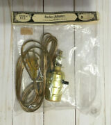 Basket Adapter Clip Lamp Long Gold Cord Electric Light Home