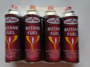 Gasone Butane Fuel Portable Stove Burner Camping 8 Oz Canisters 4-pack