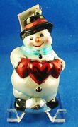 Christopher Radko Five Winter Snow Man Themed Ornaments Estate - New With