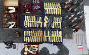 Vintage Britains / Hand Painted Metal Army Military Soldier Toy Lot Of 122pcs