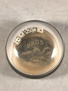 Antique Bags Cleveland-akron Bag Co Ohio Advertising Dice Paperweight