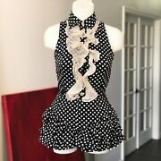 Versus By Gianni Versace Polka Dot Ruffle Top And Shorts Set Size 40 Kate Moss