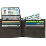 Menandrsquos Genuine Leather Wallet Andndash Rfid Blocking Security By Emanuel