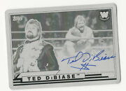 Ted Dibiase 2018 Topps Wwe Heritage Black Printing Plate Autograph Card Auto 1/1
