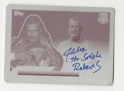 Jake The Snake Roberts 2018 Topps Wwe Heritage Printing Plate Autograph Card 1/1