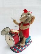 Vintage Old Rare Japan Musical Toy Еlephant Drummer Alps Battery Operated