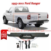 New Complete Rear Step Bumper Assembly Chrome Steel For 1993-2011 Ford Ranger