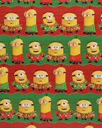 Despicable Me Minions Gift Wrap Wrapping Paper Roll Christmas Holiday 40 Sq. Ft.