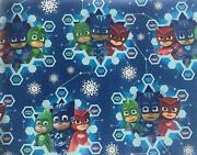 Pj Masks Gift Wrap Wrapping Paper Roll Christmas Holiday 30 Sq Ft New 1 Left