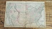 1876 Antique Map Of The United States Of America - Tackabury's Atlas Of Canada