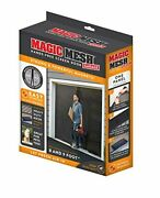 Single Car Garage Door Screen Mosquito Mesh Net Magnetic Closure Insects 8-9x7