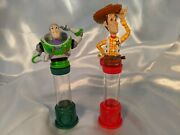 2 Vintage Flix Toy Story 2 Collectible Gumball Machines Buzz Woody 1999 Mini