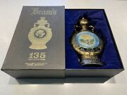 Vintage Jim Beamand039s 135 Month Floral Decanter And Box Great Condition Empty