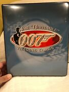 James Bond 007 The Quotable 007 Trading Cards 100 Card Set In Binder Mint